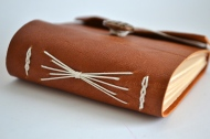 Little Brown Leather Journal. By Sprouts Press http://etsy.me/1hnlQFU